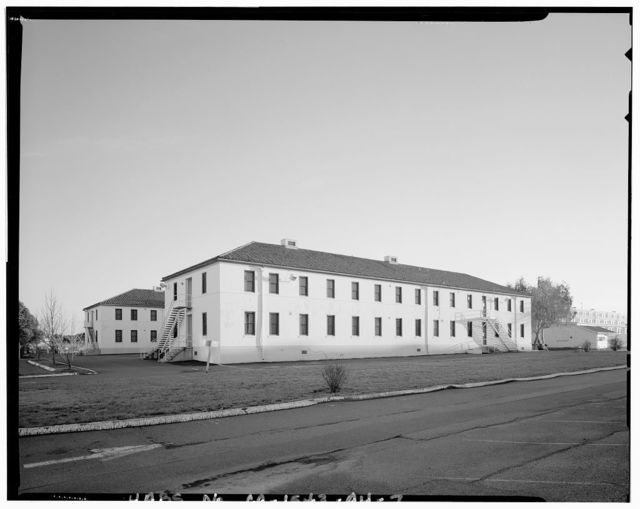 Mare Island Naval Shipyard, Bachelor Enlisted Quarters & Offices, Walnut Avenue, east side between D Street & C Street, Vallejo, Solano County, CA