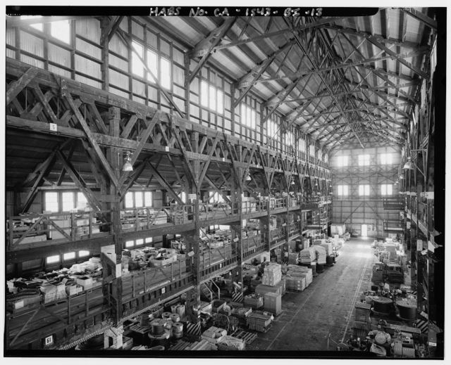 Mare Island Naval Shipyard, Supply Building, Walnut Avenue, southeast corner of Walnut Avenue & Fifth Street, Vallejo, Solano County, CA