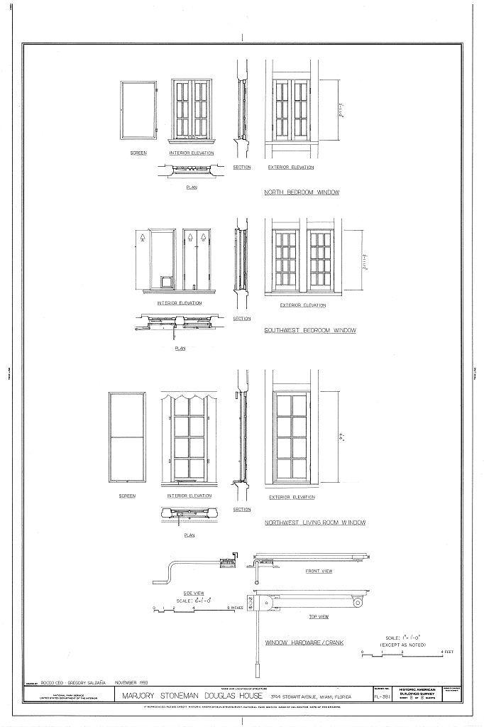 Marjory Stoneman Douglas House, 3744 Stewart Avenue, Miami, Miami-Dade County, FL