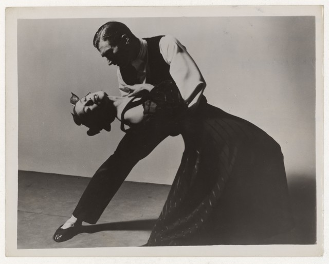[ Martha Graham and Erick Hawkins in Deaths and entrances]