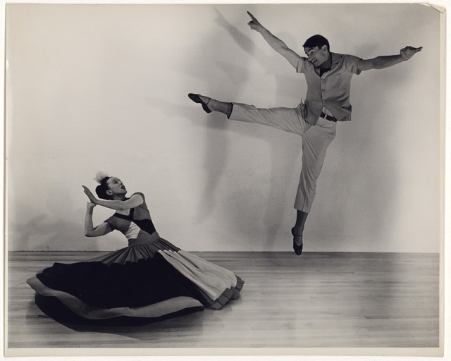 [ Martha Graham and Erick Hawkins in Punch and the Judy, No. 1]