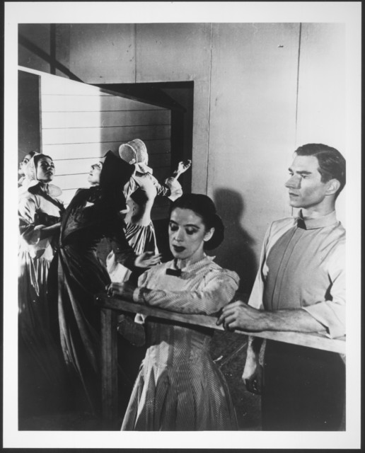 Martha Graham and Erick Hawkins in the first production of Appalachian Spring, 1944