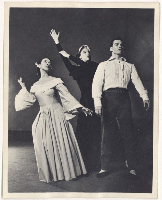 [ Martha Graham, (May O'Donnell?), and Erick Hawkins in Letter to the World]