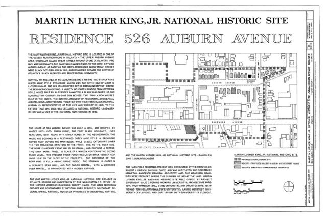 Martin Luther King, Jr. National Historic Site, 526 Auburn Avenue (House), 526 Auburn Avenue, Atlanta, Fulton County, GA