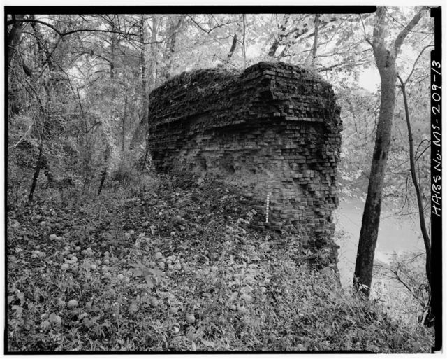 Martin's Bluff (Buildings & Dam Abutment), East Bank of Tombigbee River, Aberdeen, Monroe County, MS