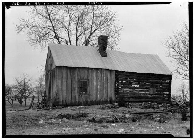 Mary Locher Cabin, Route 65 (Hagerstown Pike), Sharpsburg, Washington County, MD
