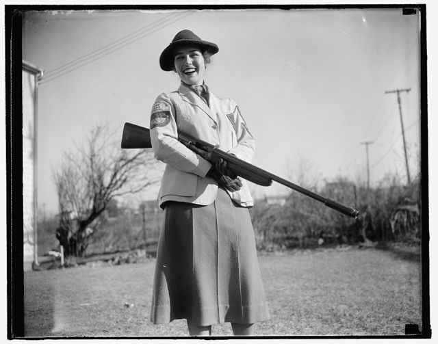 Maryland woman takes skeet shooting title. Westmoreland Hills, MD. Jan. 5. Mrs. Albert F. Walker of this town has been declared 1937 women's skeet shooting champion of the country by the National Skeet Shooting Association. The Association has released the averages on which the ratings were based, but one day last year at the Kenwood, MD, skeet club, Mrs. Walker set the woman's record fall with 99x100 (skeet for 99 birds out of a possible 100). In addition to her national title, she outranks both men and women shooters in the District of Columbia and Maryland, 1/5/38