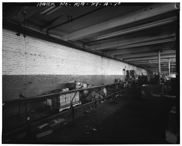 Massachusetts Mills, Cloth Room-Section 15, 95 Bridge Street, Lowell, Middlesex County, MA