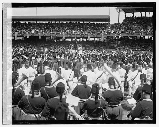 Massed bands, American League Park, 6/7/23