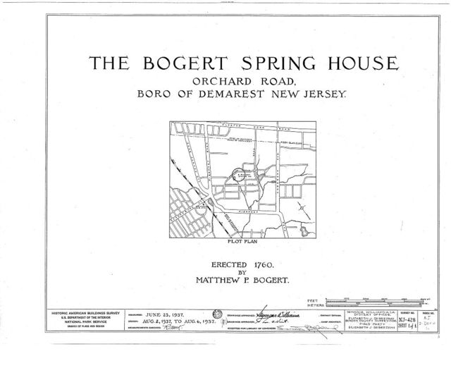 Matthew P. Bogert Stone Well House, Orchard Road, Demarest, Bergen County, NJ