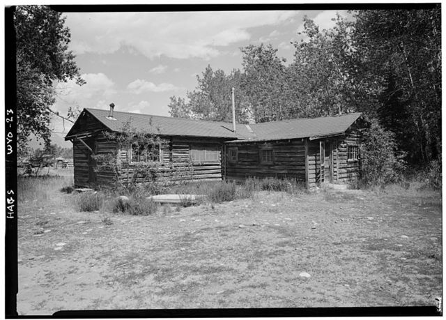 Maud Noble Cabin, Menor's Ferry, Snake River, moved from Cottonwood Creek, Moose, Teton County, WY