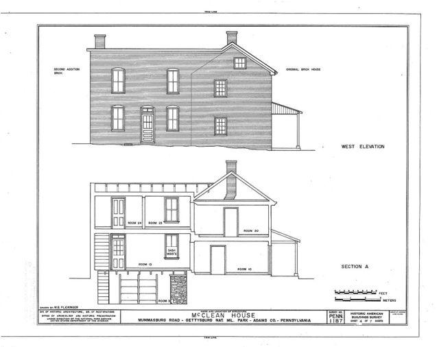 McClean House, Mummasburg Road (Cumberland Township), Gettysburg, Adams County, PA