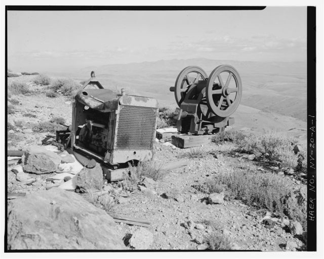 McCormick Group Mine, Ore Crusher & Engine, East slope of Buckskin Mountain, Paradise Valley, Humboldt County, NV