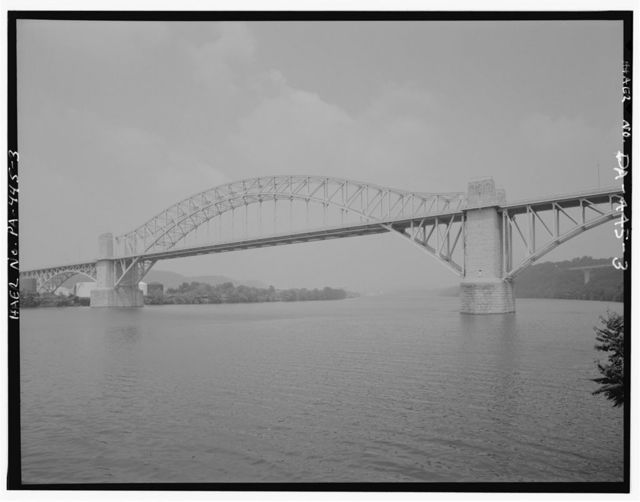 McKee's Rocks Bridge, Spanning Ohio River at Chartiers Avenue (State Route 3014), McKees Rocks, Allegheny County, PA