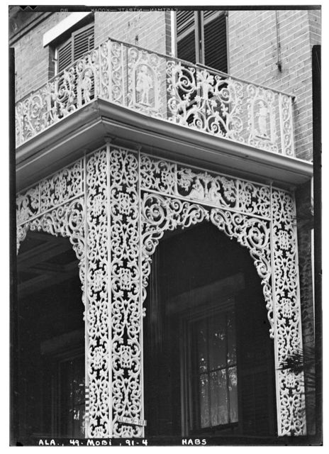 McMillan House (Ironwork), 256 North Joachim Street, Mobile, Mobile County, AL