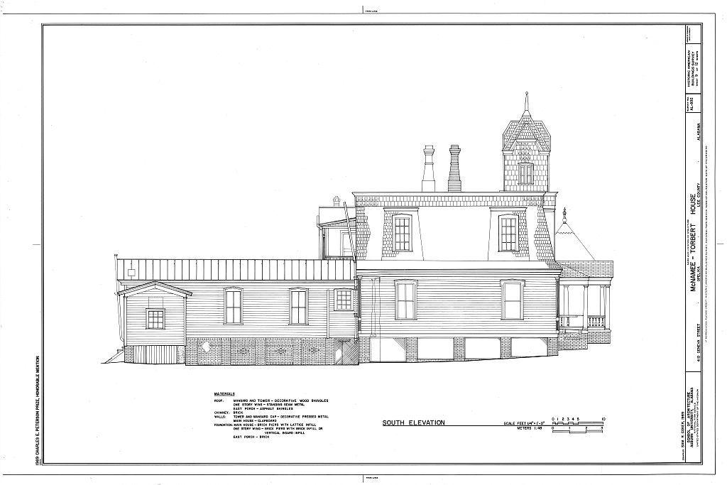 McNamee-Torbert House, 410 Geneva Street, Opelika, Lee County, AL