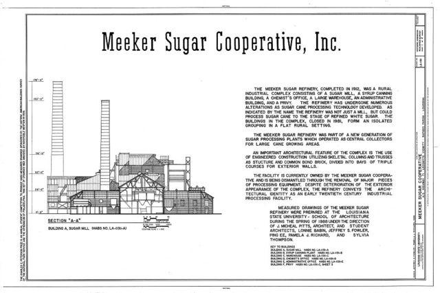 Meeker Sugar Cooperative, U.S. Highway 71, Lecompte, Rapides Parish, LA