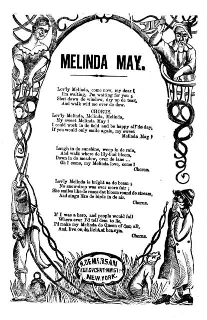 Melinda May. H. De Marsan, Publisher, 54 Chatham St., N. Y