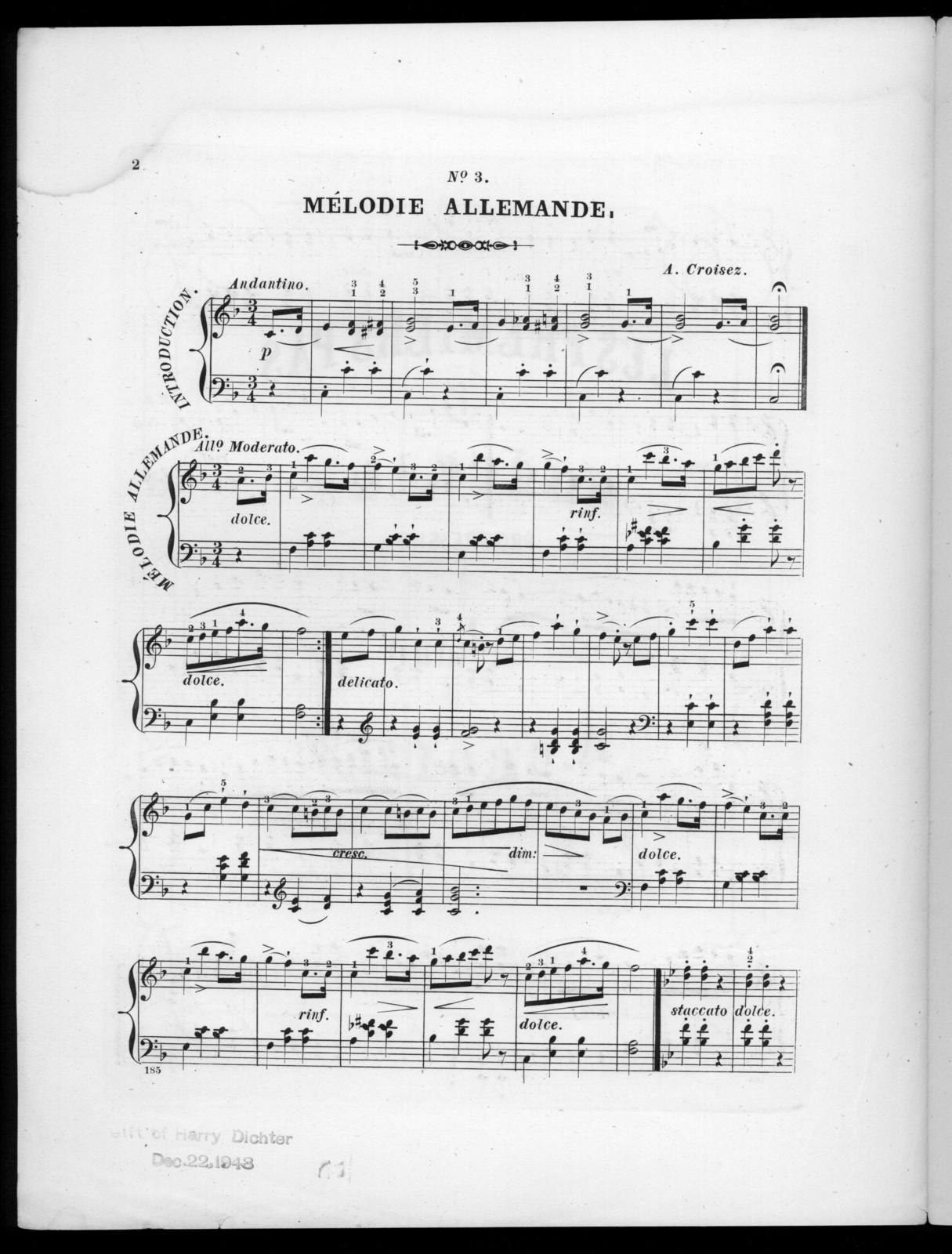 Mélodie allemande, op. 40, no. 3