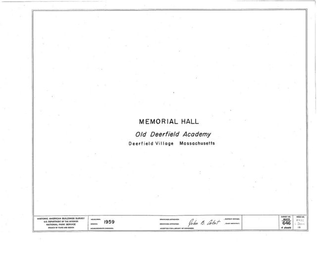 Memorial Hall, Memorial Road, Deerfield, Franklin County, MA