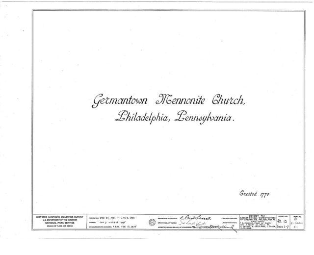Mennonite Meeting House, 6119 Germantown Avenue, Philadelphia, Philadelphia County, PA