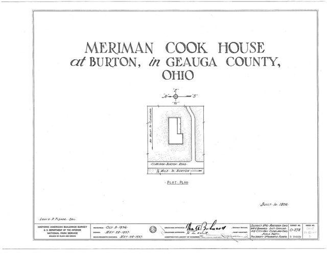 Meriman Cook House, Claridon & Burton Roads, Burton, Geauga County, OH