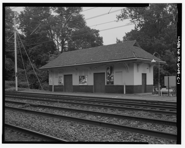 Merion Railroad Station, Freight House, Civic Circle, Merion Park, Montgomery County, PA