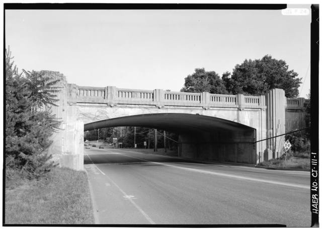 Merritt Parkway, Black Rock Turnpike/Route 58 Bridge, Spanning Black Rock Turnpike, Fairfield, Fairfield County, CT