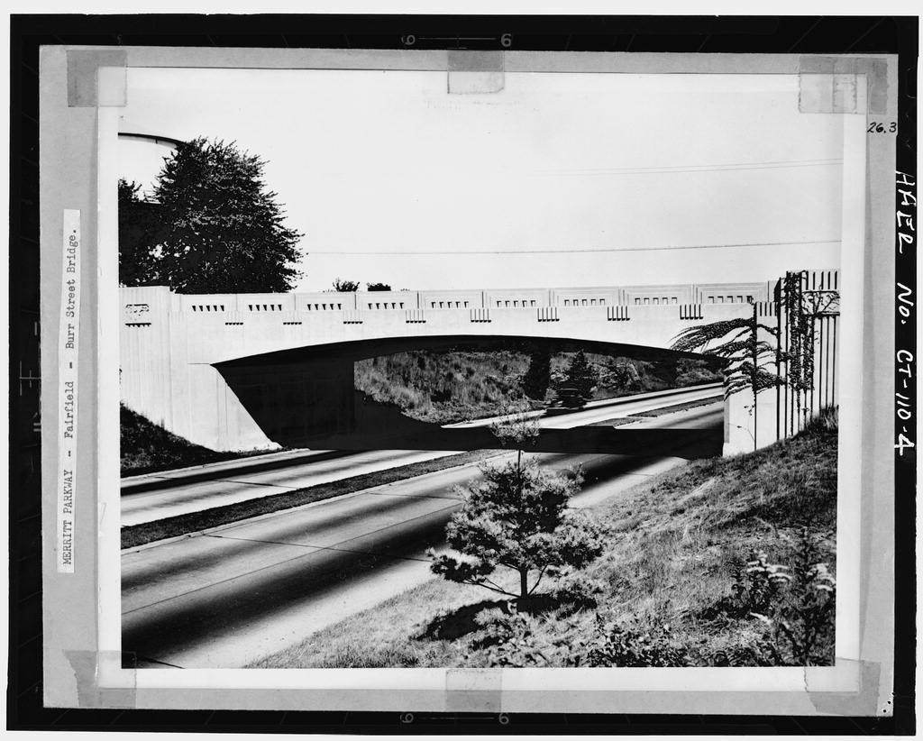 Merritt Parkway, Burr Street Bridge, Spanning Merritt Parkway, Fairfield, Fairfield County, CT