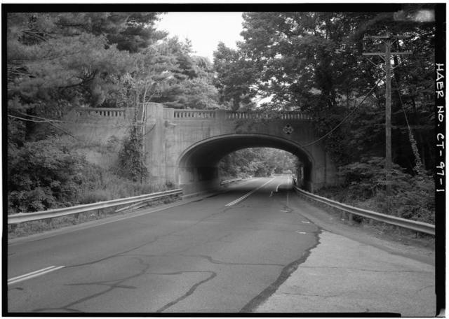 Merritt Parkway, Chestnut Hill Road/Route 53 Bridge, Spanning Chestnut Hill Road/Route 53, Norwalk, Fairfield County, CT