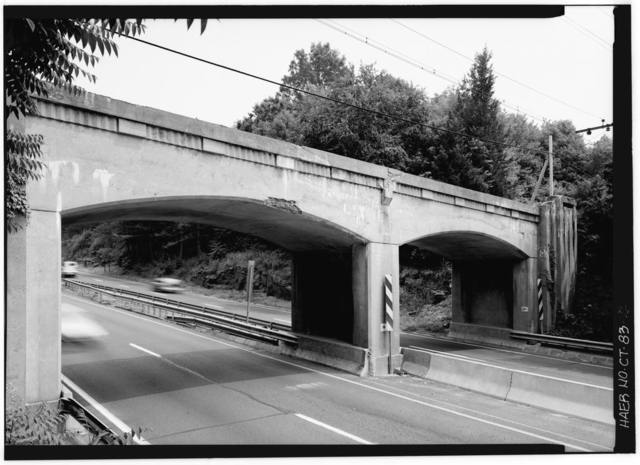 Merritt Parkway, Metro North Railroad Bridge, Spanning Merritt Parkway, New Canaan, Fairfield County, CT