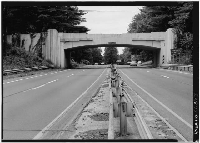 Merritt Parkway, Newfield Avenue Bridge, Spanning Merritt Parkway, Stamford, Fairfield County, CT