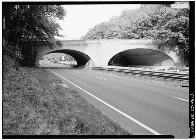 Merritt Parkway, Newton Turnpike Bridge, Spanning Merritt Parkway, Westport, Fairfield County, CT