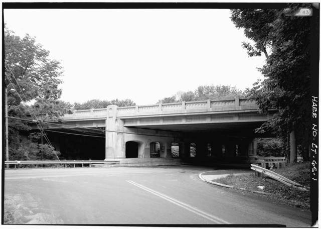 Merritt Parkway, Riversville Road (East Branch) Bridge, Spanning Riversville Road & East branch of Byram River, Greenwich, Fairfield County, CT