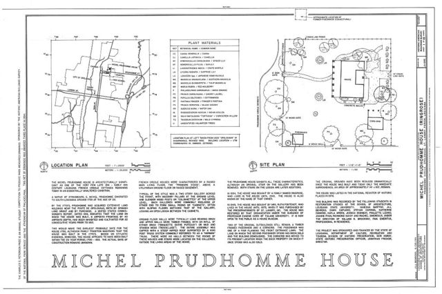 Michel Prudhomme House, Prudhomme Circle, Opelousas, St. Landry Parish, LA