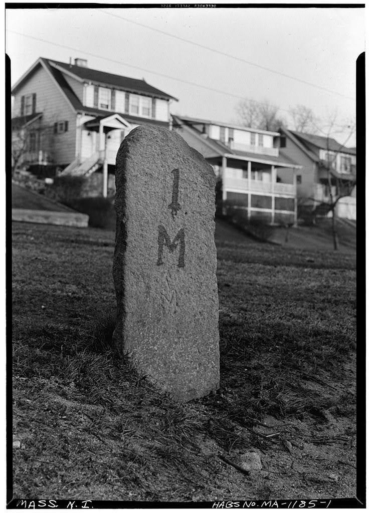 Milestone, Andover & Medford Turnpike, Medford, Middlesex County, MA