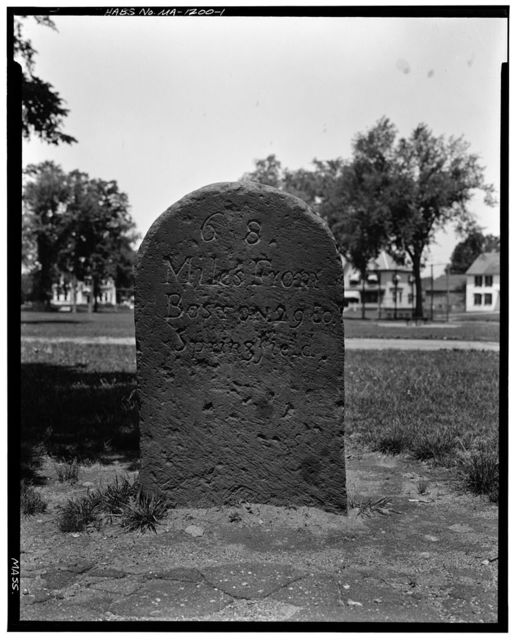 Milestone, East End of Town Common, West Brookfield, Worcester County, MA