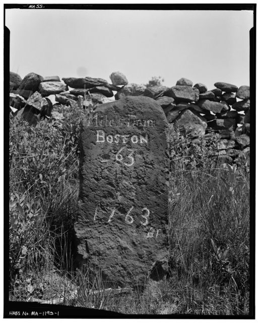 Milestone, Route 9, East Brookfield, Worcester County, MA