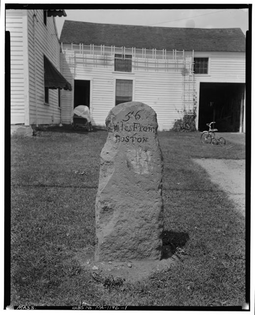 Milestone, Route 9, Leicester, Worcester County, MA