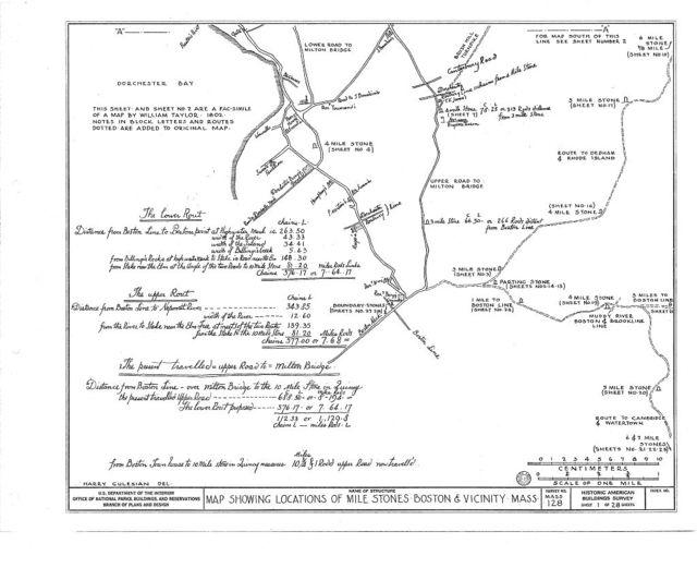 Milestones, Various Boston vicinity locations, Boston, Suffolk County, MA