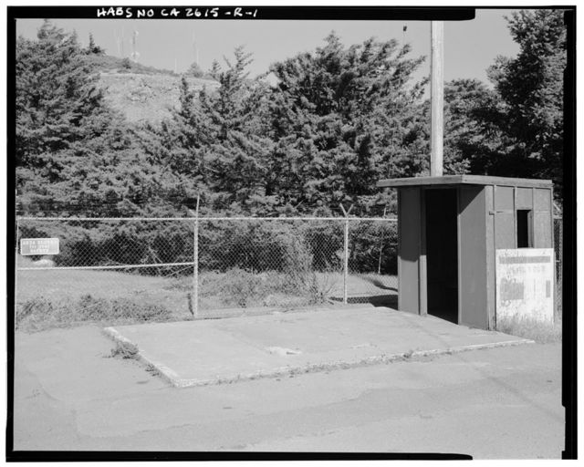Mill Valley Air Force Station, Gatehouse, East Ridgecrest Boulevard, Mount Tamalpais, Mill Valley, Marin County, CA