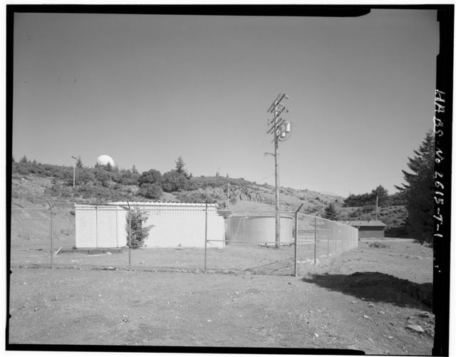Mill Valley Air Force Station, Storage Shed & Tank, East Ridgecrest Boulevard, Mount Tamalpais, Mill Valley, Marin County, CA