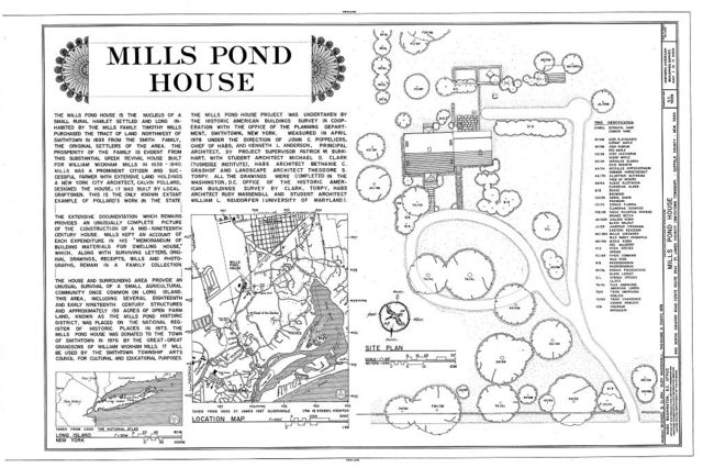 Mills Pond House, 660 North Country Road (State Route 25A), Saint James, Suffolk County, NY