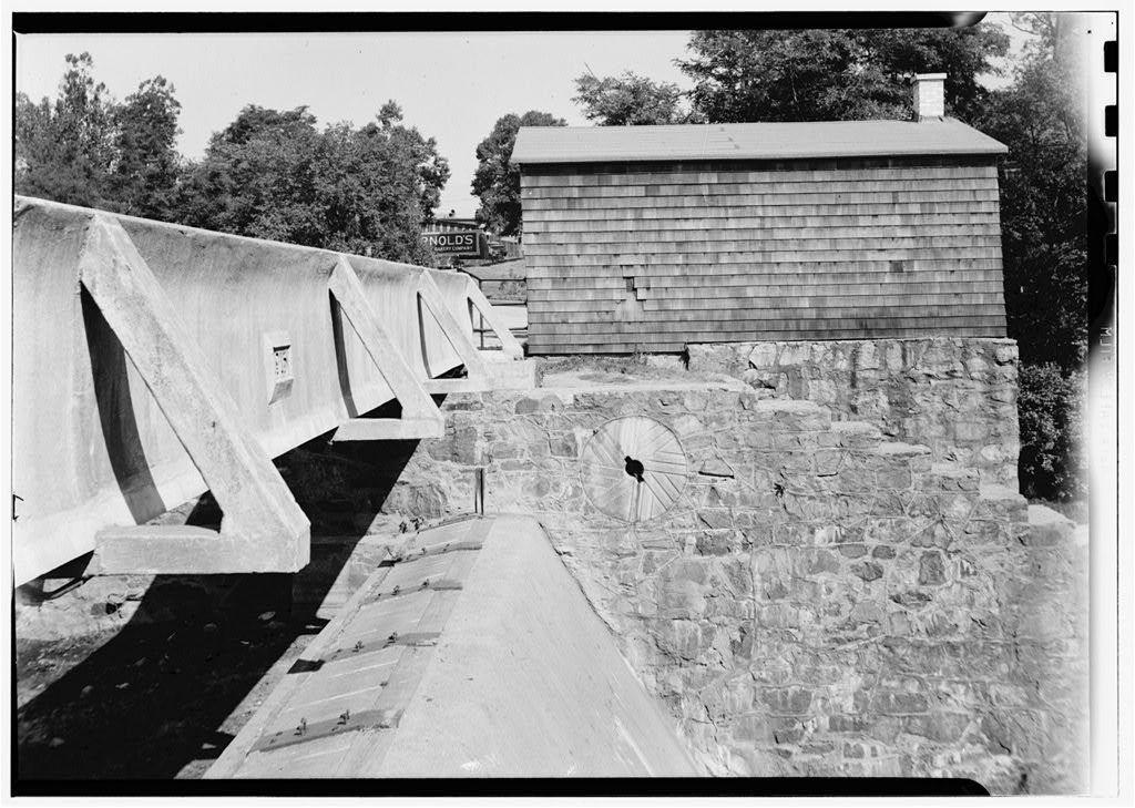 Millstone, Barneys Pond Bridge Vicinity, Saylesville, Kent County, RI