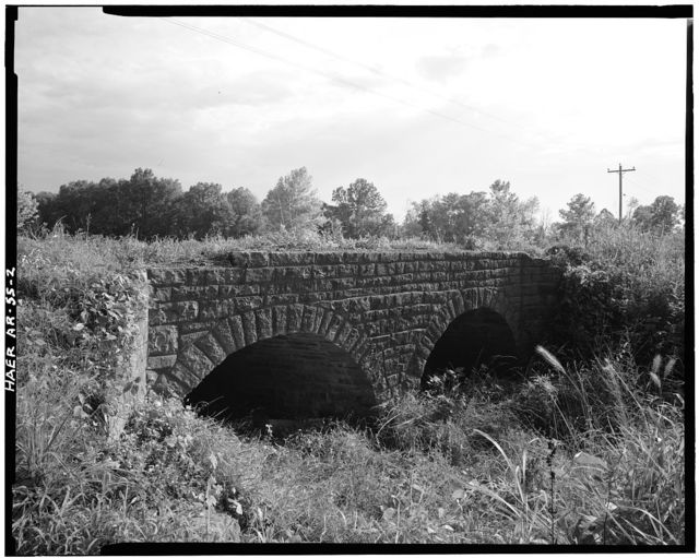 Milltown Bridge, Spanning Vache Grasse Creek tributary at County Road No.77, Milltown, Sebastian County, AR