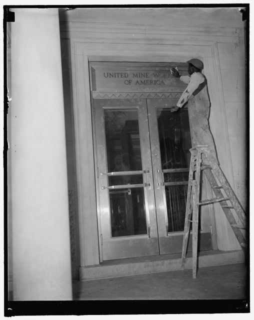 Mine workers take new quarters. Washington, D.C., Dec. 27. The United Mine Workers of America, one of John L. Lewis' strongest CIO groups, today began to move into new quarters in the building formerly occupied by the University Club at 15th & Eye Sts. The building, which was taken over by the U.M.W. last summer, has been completely renovated inside and out