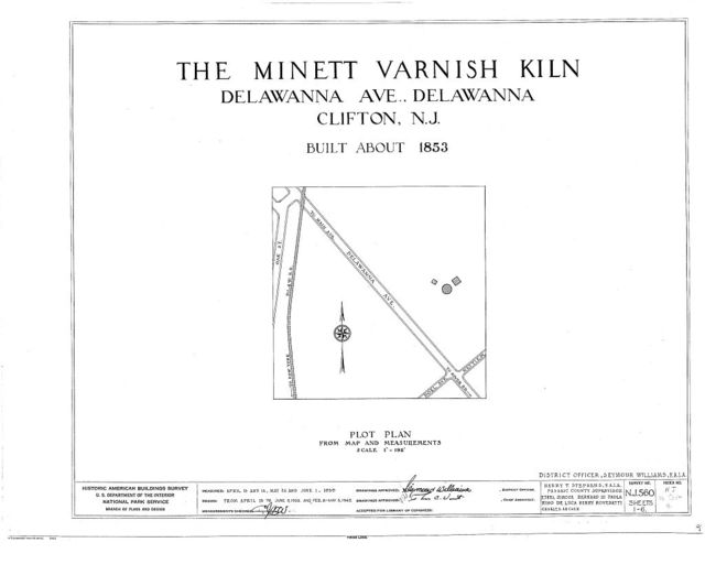 Minett Varnish Kiln, Delawanna Avenue, Clifton, Passaic County, NJ