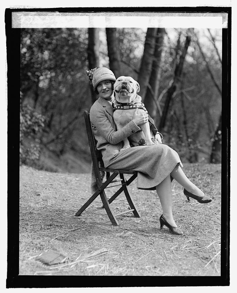 Miss Mae Esterley with Sgt. Jiggs, 4/14/25
