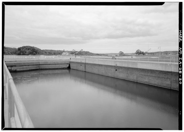 Mississippi River 9-Foot Channel, Lock & Dam No. 14, Upper Mississippi River, Le Claire, Scott County, IA