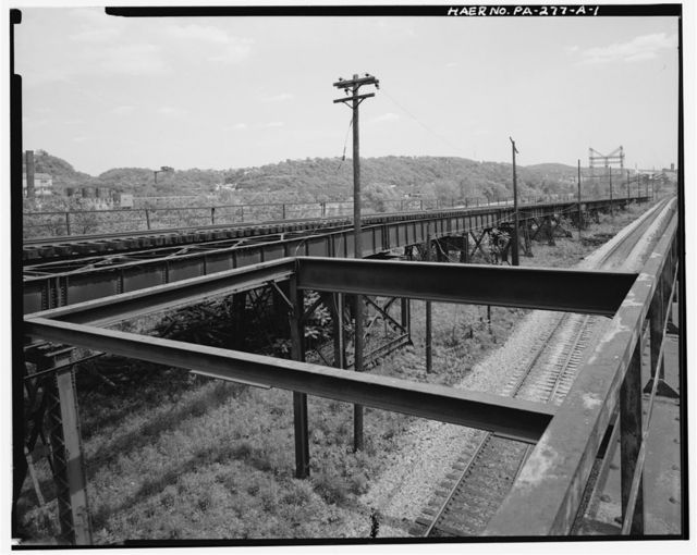 Monongahela Connecting Railroad Company, Y Trestle, South side of Monongahela River between Thirty-fourth & Twenty-ninth Streets, Pittsburgh, Allegheny County, PA